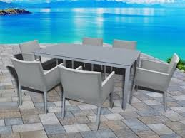 Glass Table Patio Set Affordable Outdoor Dining Tables 7 U0026 9 Piece Dining Sets