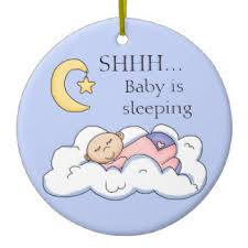 shhh baby sleeping ornaments keepsake ornaments zazzle