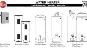 water heater manuals