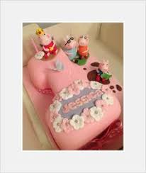 number 1 birthday cake with peppa pig theme my number cakes