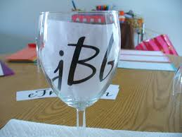 diy monogram wine glasses a gorgeous diy gift craft wine and glass
