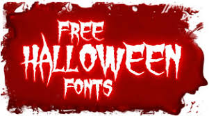 scary fonts