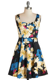 Wishing You A Very Retro by Very Charming Dress In Rich Floral Best Dressed Pinterest