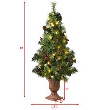 led christmas tree 3 4 5 led christmas tree with berries pine cones seasonal