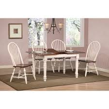 dining chairs antique white set of 2 rovie acacia wood dining