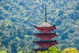 Gojuto Pagoda on Miyajima Island near Hiroshima  Japan  Boutique Japan