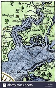 Map Of Williamsburg Va Map Of Jamestown Settlement Virginia Colony Stock Photo Royalty