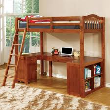 furniture of america dutton workstation loft bunk bed the mine