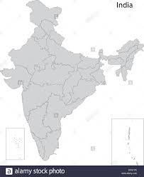Map India Grey India Map Stock Photo Royalty Free Image 61203735 Alamy