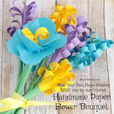 Make Your Own Paper Flowers - handmade paper flower bouquet images square jpg