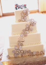 wedding cakes 2016 2016 vintage glam wedding cake theme with broches archives
