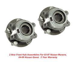 nissan rogue wheel bearing replacement amazon com dta front wheel bearing u0026 hub assemblies nt513310 x2