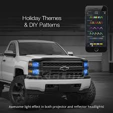 strobe lights for car headlights xkchrome ios android smartphone app bluetooth xkchrome 2 in 1 led