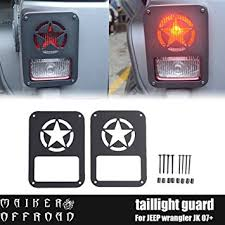 accessories jeep wrangler unlimited amazon com maiker jeep wrangler accessories rear taillights cover