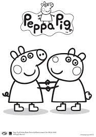 peppa pig friends colouring printable bub hub kids