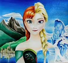 frozen drawing queen elsa anna speed drawing