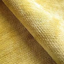 tissu ameublement canapé tabley citrus uni jaune en velours tissu ameublement coussin