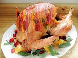 thanksgiving bacon wrapped turkey recipe frugal foodie mama bacon u0026 sage roasted turkey