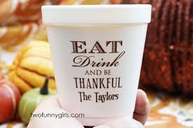 personalized styrofoam cups for thanksgiving