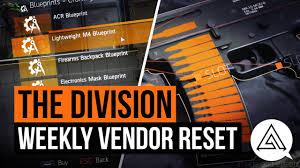 Buy Blueprints The Division Weekly Vendor Reset Lightweight M4 Blueprint