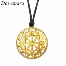 necklace brand names images Dawapara tibetan silver pendant with slavic sun gear pattern jpg