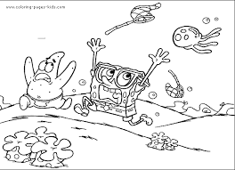 spongebob squarepants color coloring pages kids