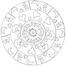 hearts mandala mandalas coloring pages for adults justcolor