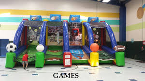 4 station inflatable sports game rental dallas tx water slides