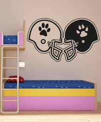sports wall stickers sports decals for walls stickerbrand vinyl wall decal sticker rival football helmets os aa191