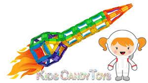 diy rocket spaceship construction magcreator learn colors fun for