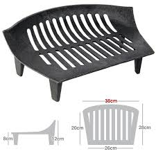 fire grate cast iron 18 14 16 inch solid fuel black fireside