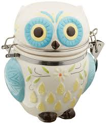 amazon com boston warehouse hinged jar with floral owl design
