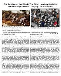 Pieter Bruegel Blind Leading The Blind Travelers In Time Center For Visual Communication