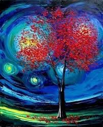 modern paint red trees painting foter