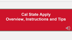 cal state apply youtube