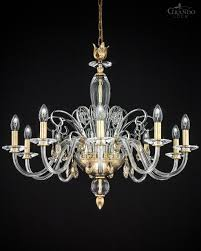 120 10 ch gold leaf chandelier with swarovski elements