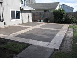 Back Yard Design Concrete Ideas For Backyard Large And Beautiful Photos Photo To