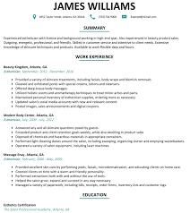 esthetician resume exle esthetician resume sle resumelift