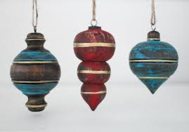 rustic wooden christmas ornaments lovely etc