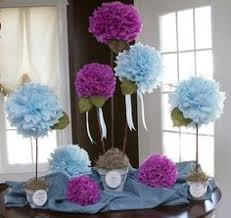 painted tissue paper pompom flowers u2013 craftbnb