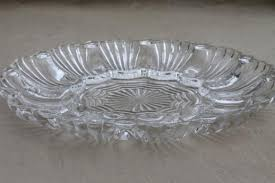 vintage deviled egg plates glass egg plates clear glass deviled egg trays milk glass