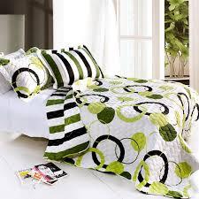 Bright Green Comforter Lime Green Black White Teen Bedding Full Queen Quilt Set