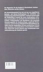 architektur studieren deutschland studienführer architektur und stadtplanung der wegweiser für das