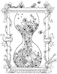 Garden Hourglass Coloring Page Printable Coloring Pages Adult Coloring Page Of