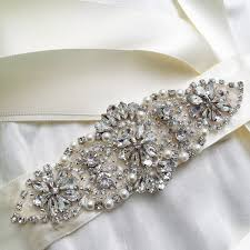 bridal sash bespoke vintage castle wedding accessories brides pearl bouquets