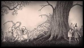 john kenn mortensen desenhos assustadores feitos em post it