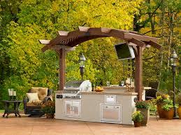 Outdoor Patio Grill Gazebo by Way Cool Grilling Area Deck Pergola 3 Season Room Pinterest