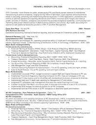 Cfo Resume Template Private Equity Resume Resume Badak