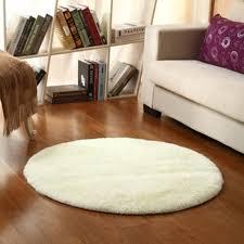 tapis rond chambre b tapis doux ronde moquette de la chambre 120cm blanc crémeux