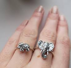 pink star diamond ring elephant ring boho